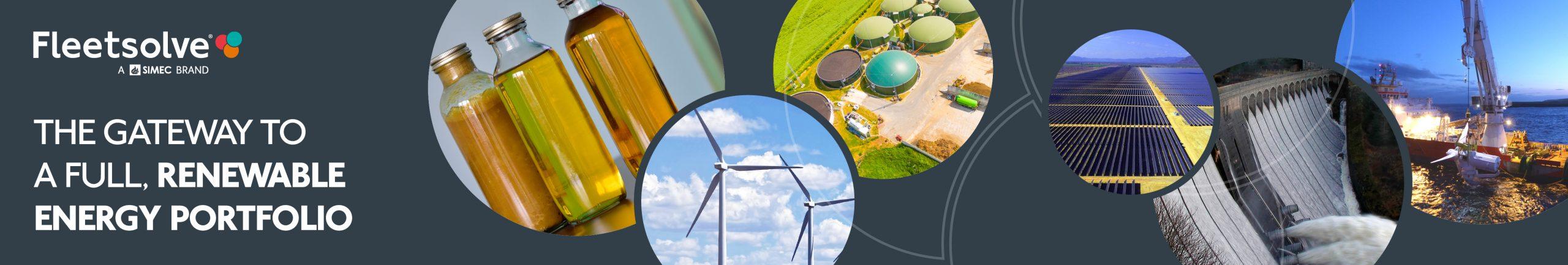 renewable energy banner grey long